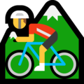 Person Mountain Biking on Microsoft Windows 10 Creators Update