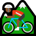 Person Mountain Biking: Medium-Dark Skin Tone on Microsoft Windows 10 Creators Update