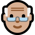 Old Man: Medium-Light Skin Tone on Microsoft Windows 10 Creators Update