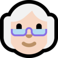 Old Woman: Light Skin Tone on Microsoft Windows 10 Creators Update