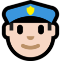 Police Officer: Light Skin Tone on Microsoft Windows 10 Creators Update