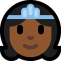 Princess: Medium-Dark Skin Tone on Microsoft Windows 10 Creators Update