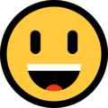 Smiling Face With Open Mouth on Microsoft Windows 10 Creators Update