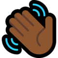 Waving Hand: Medium-Dark Skin Tone on Microsoft Windows 10 Creators Update