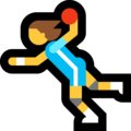 Woman Playing Handball on Microsoft Windows 10 Creators Update