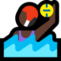 Woman Playing Water Polo: Dark Skin Tone on Microsoft Windows 10 Creators Update