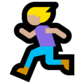 Woman Running: Medium-Light Skin Tone on Microsoft Windows 10 Creators Update