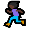 Woman Running: Dark Skin Tone on Microsoft Windows 10 Creators Update