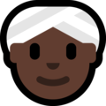 Woman Wearing Turban: Dark Skin Tone on Microsoft Windows 10 Creators Update