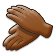 Clapping Hands: Medium-Dark Skin Tone on Samsung Galaxy S8 (April 2017)