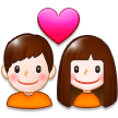 Couple With Heart on Samsung Galaxy S8 (April 2017)