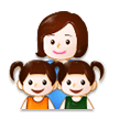Family: Woman, Girl, Girl on Samsung Galaxy S8 (April 2017)