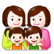 Family: Woman, Woman, Girl, Boy on Samsung Experience 8.5 (Galaxy Note S8)