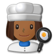 Woman Cook: Medium-Dark Skin Tone on Samsung Galaxy S8 (April 2017)