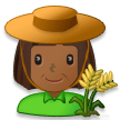 Woman Farmer: Medium-Dark Skin Tone on Samsung Galaxy S8 (April 2017)