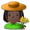 Woman Farmer: Dark Skin Tone on Samsung Galaxy S8 (April 2017)