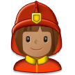 Woman Firefighter: Medium Skin Tone on Samsung Galaxy S8 (April 2017)
