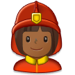 Woman Firefighter: Medium-Dark Skin Tone on Samsung Galaxy S8 (April 2017)