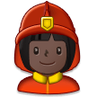 Woman Firefighter: Dark Skin Tone on Samsung Galaxy S8 (April 2017)