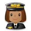Woman Pilot: Medium Skin Tone on Samsung Galaxy S8 (April 2017)