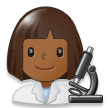 Woman Scientist: Medium-Dark Skin Tone on Samsung Galaxy S8 (April 2017)