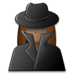 Woman Detective: Medium Skin Tone on Samsung Experience 8.5 (Galaxy Note S8)
