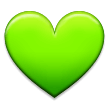 Green Heart on Samsung Galaxy S8 (April 2017)
