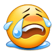 Loudly Crying Face on Samsung Galaxy S8 (April 2017)