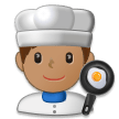 Man Cook: Medium Skin Tone on Samsung Galaxy S8 (April 2017)