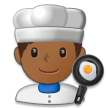 Man Cook: Medium-Dark Skin Tone on Samsung Galaxy S8 (April 2017)