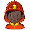 Man Firefighter: Dark Skin Tone on Samsung Experience 8.5 (Galaxy Note S8)