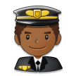 Man Pilot: Medium-Dark Skin Tone on Samsung Galaxy S8 (April 2017)