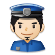 Man Police Officer: Light Skin Tone on Samsung Experience 8.5 (Galaxy Note S8)