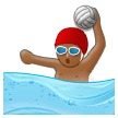 Man Playing Water Polo: Medium-Dark Skin Tone on Samsung Experience 8.5 (Galaxy Note S8)