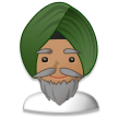 Man Wearing Turban: Medium Skin Tone on Samsung Galaxy S8 (April 2017)