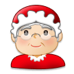 Mrs. Claus: Light Skin Tone on Samsung Galaxy S8 (April 2017)
