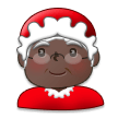 Mrs. Claus: Dark Skin Tone on Samsung Galaxy S8 (April 2017)