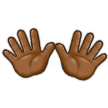 Open Hands: Medium-Dark Skin Tone on Samsung Galaxy S8 (April 2017)
