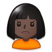 Person Frowning: Dark Skin Tone on Samsung Galaxy S8 (April 2017)