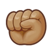 Raised Fist: Medium Skin Tone on Samsung Galaxy S8 (April 2017)