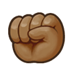 Raised Fist: Medium-Dark Skin Tone on Samsung Galaxy S8 (April 2017)