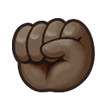 Raised Fist: Dark Skin Tone on Samsung Galaxy S8 (April 2017)