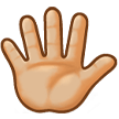 Raised Hand With Fingers Splayed: Medium-Light Skin Tone on Samsung Galaxy S8 (April 2017)