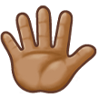 Hand With Fingers Splayed: Medium Skin Tone on Samsung Experience 8.5 (Galaxy Note S8)