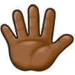 Hand With Fingers Splayed: Medium-Dark Skin Tone on Samsung Experience 8.5 (Galaxy Note S8)