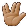 Vulcan Salute: Medium Skin Tone on Samsung Galaxy S8 (April 2017)