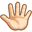 Reversed Raised Hand with Fingers Splayed + Emoji Modifier Fitzpatrick Type-1-2 on Samsung Experience 8.5 (Galaxy Note S8)