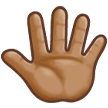 Reversed Raised Hand with Fingers Splayed + Emoji Modifier Fitzpatrick Type-4 on Samsung Experience 8.5 (Galaxy Note S8)