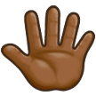 Reversed Raised Hand with Fingers Splayed + Emoji Modifier Fitzpatrick Type-5 on Samsung Experience 8.5 (Galaxy Note S8)