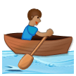 Person Rowing Boat: Medium Skin Tone on Samsung Galaxy S8 (April 2017)